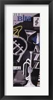 Blues & Jazz Framed Print