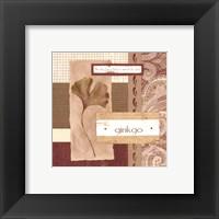 Framed Scrapbook Gingko Leaf