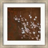 Framed Cherry Blossoms on Cinnabar I