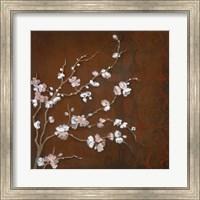 Framed Cherry Blossoms on Cinnabar II