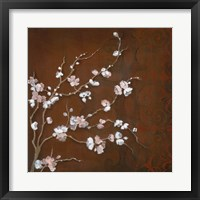 Cherry Blossoms on Cinnabar II Framed Print