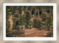 Framed French Quarter Courtyard I