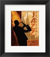 1962 Jazz in New York Framed Print