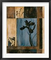Iris Silhouette Framed Print
