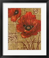 Framed Poppies on Gold II