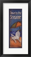 Down By The Seashore Framed Print