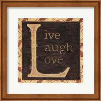 Framed Live Laugh Love - Border