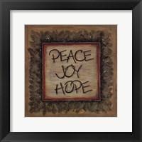 Framed Peace Joy Hope