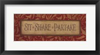 Framed Sit Share Partake
