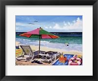 Coasting Through Framed Print