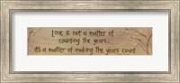 Framed Love Is Not A Matter Of