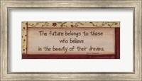 Framed Future Belongs