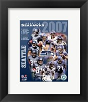 Framed 2007 - Seahwks Team Composite