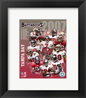 Framed 2007 - Buccaneers Team Composite
