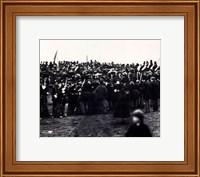 Framed Abraham Lincoln / Gettysburg Address 1863