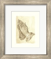 Framed Praying Hands, c.1508 (sepia)