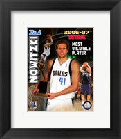 Framed Dirk Nowitzski - 2007 NBA M.V.P. / Portrait Plus