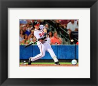 Framed Mark Teixeira - 2007 Batting Action