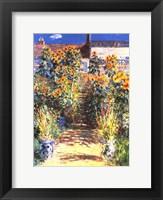 Framed Artist's Garden at Vetheuil