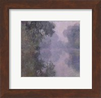 Framed Seine at Giverny, Morning Mists, 1897