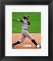 Framed Curtis Granderson - 2007 Batting Action