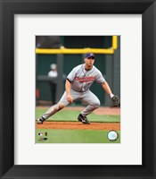 Framed Travis Hafner - 2007 Fielding Action