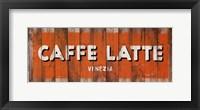 Framed Caffe Latte
