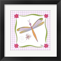 Framed Dragonfly of Hearts