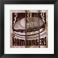 Framed Hamburger
