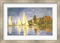 Framed Regatta at Argenteuil