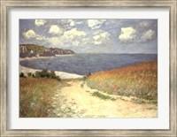 Framed Chemin dans les bles a Pourville, 1882