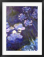 Framed Water Lilies and Agapanthus, 1914-1917