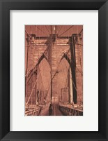 Framed Brooklyn Bridge - tall
