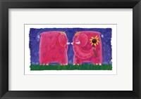 Framed Funky Elephant
