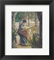 Framed Madame Monet Embroidering, c.1875