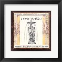 Framed Jets d'Eau
