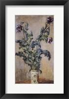 Framed Purple Poppies