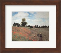 Framed Les Coquelicots