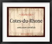 Cote du Rhone Framed Print