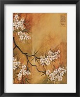 Framed Oriental Blossoms II