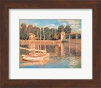 Framed Il Pont d'Argenteuil