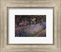 Framed Artist's Garden at Giverny, c.1900