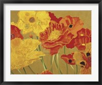 Framed Poppy Garden I