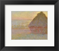 Framed Grainstack (Sunset), 1891