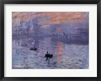 Framed Impression, Sunrise, c.1872 (blue)