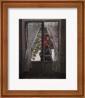 Framed Red Kerchief: Portrait of Mrs. Monet, c.1873