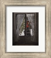 Framed Red Kerchief: Portrait of Mrs. Monet, c.1873