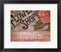 Flower Shop Roses Framed Print