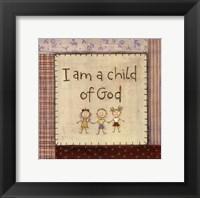 I am a Child of God Framed Print