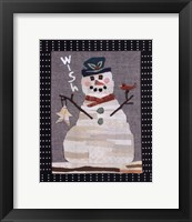 Framed Snowman Wish